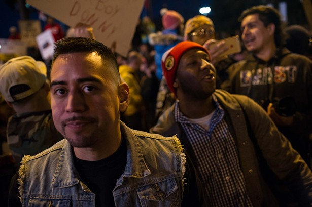 Donald Trump supporters, protesters clash after postponed rally at UIC