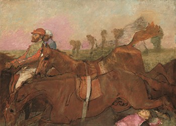 A jockey in peril is the centerpiece of 'Degas: At the Track, On the Stage'