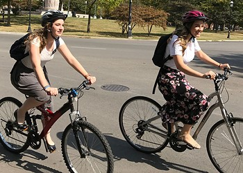For Mormon missionaries, spreading the gospel by bike is all about practicality