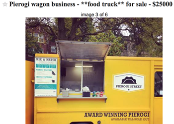 The owners of the Pierogi Wagon are selling their food truck business—on Craigslist