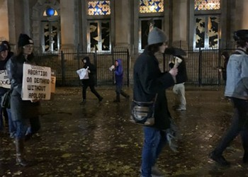 Activists protest pro-life event at Holy Trinity Church