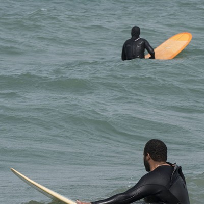 Lake Michigan Surfers