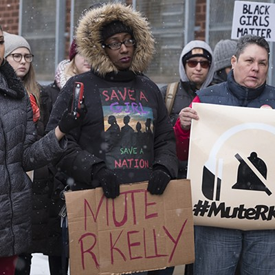 Protest outside R. Kelly's West Loop studio