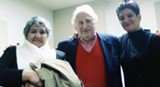 Cisneros, right, with her mother and Studs Terkel - COURTESY RANDOM HOUSE