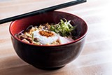 A bowl of soba noodles features mountain yam. - JEFFREY MARINI