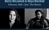 February Reading: Marty McConnell and Maya Marshall.