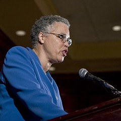 Under repeated questioning, Cook County board president Toni Preckwinkle said that she's not going to say whether she's running for mayor.