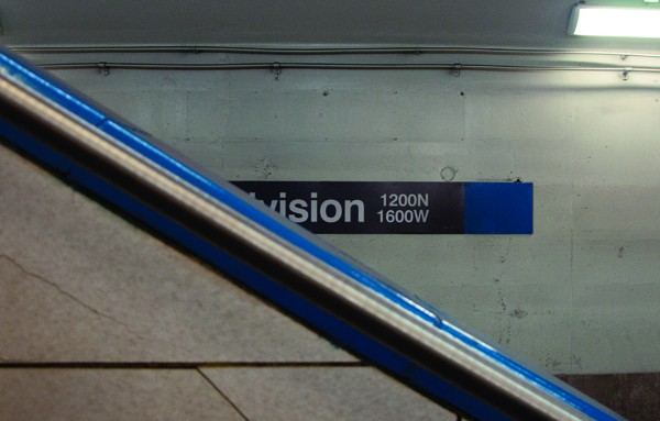 Untitled. Division Blue Line stop, November. By Michael Ritchie - MICHAEL RITCHIE
