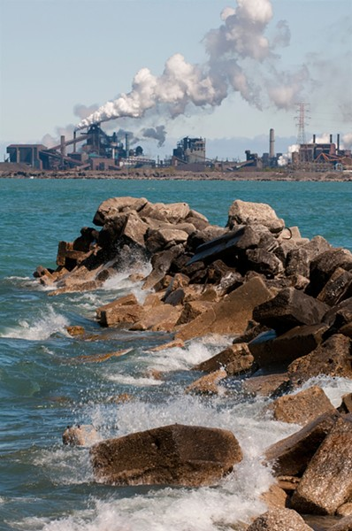 U.S. Steel Plant as viewed from Whiting, Indiana - LLOYD DEGRANE