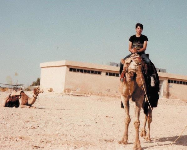 Usama Alshaibi as a teenager in Jordan