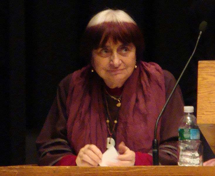 Varda at the Harvard Film Archive in 2009