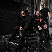 Victor Griffin of Pentagram talks with Ron Holzner, formerly of Trouble