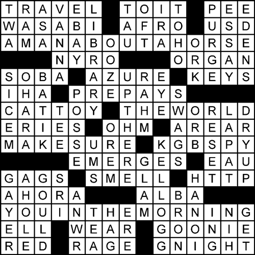 Vision Quest crossword puzzle solved