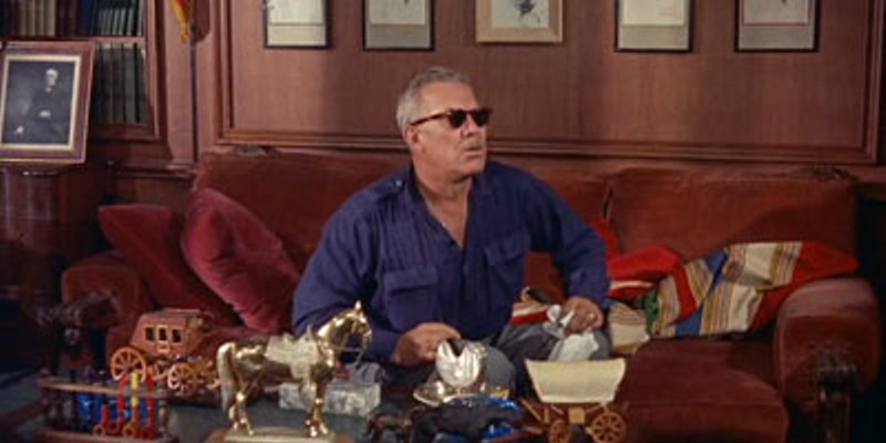 Ward Bond played John Ford's alcoholic alter-ego in The Wings of Eagles (1957).