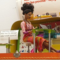Welcome to the dollhouse in Tiffany Gholar's Fine Arts Building studio