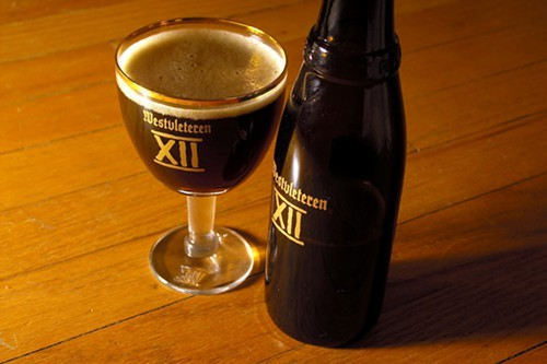 Westvleteren XII in one of the tasting glasses included in the gift pack