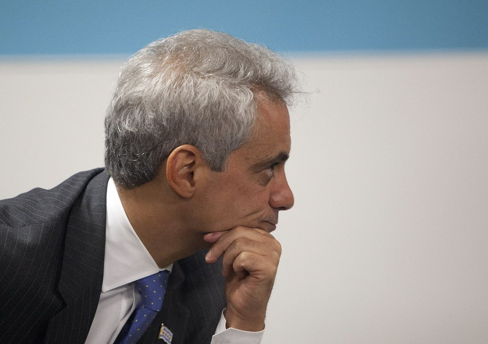 What is Mayor Emanuel pondering? Maybe its what more he can eliminate from the CPS.