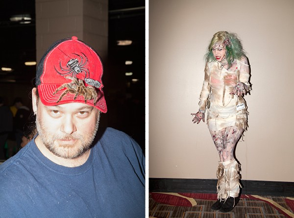 What's creepier: the animal handler with the tarantula hat, the zombie lady, or that hotel carpet? - PARKER BRIGHT
