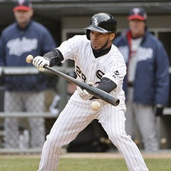 White Sox second baseman Leury Garcia bunts his way on to lead off the 11th yesterday. Garcia came around to score the winning run.