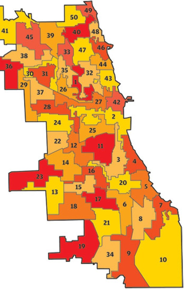 Chicago's 50 wards—the jigsaw version | Bleader