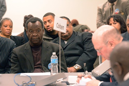 Willie Wilson during his hearing at the Board of Elections