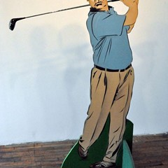 You could own this golfing Richard M. Daley cutout