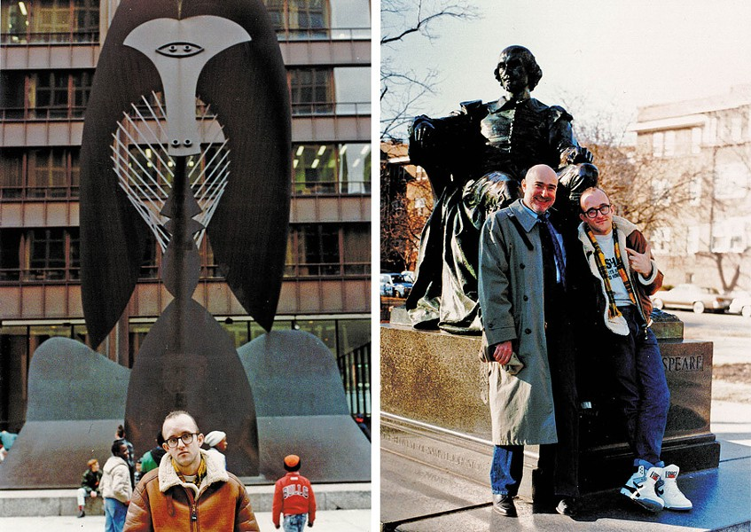 Zucker and Haring in '89; Haring with Daley Plaza's Picasso - MARCELINO Y. FAHD