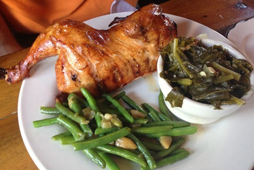 48 Hour Slow Roasted Free Range Chicken with sides