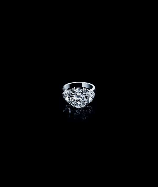 A cushion cut ring by Sasha Primak. Available from Hummingbird Jewelers in Rhinebeck.