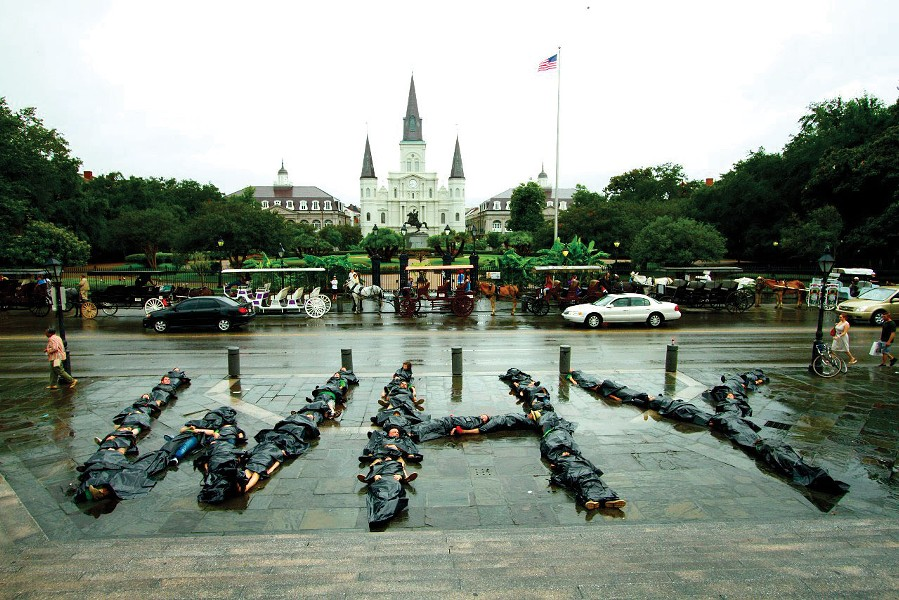 A demonstration organized by Rebecca and Josh Tickell at Jackson Square in New Orleans and documented in The Big Fix.