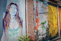 ANNE CECILLE MEADOWS - A mural in Newburgh.