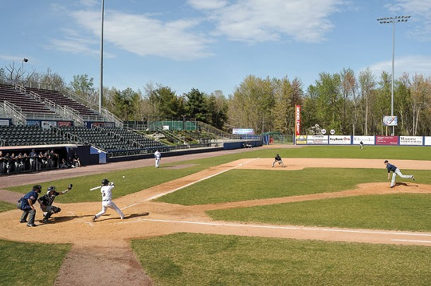 A preseason game at Dutchess Stadium in Fishkill. - DAVID MORRIS CUNNINGHAM