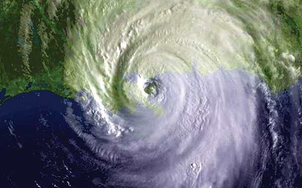 A satellite photo of a hurricane. - NATIONAL OCEANIC AND ATMOSPHERIC ADMINISTRATION