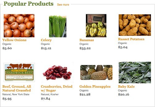A screen shot of available products on Wholeshares website.