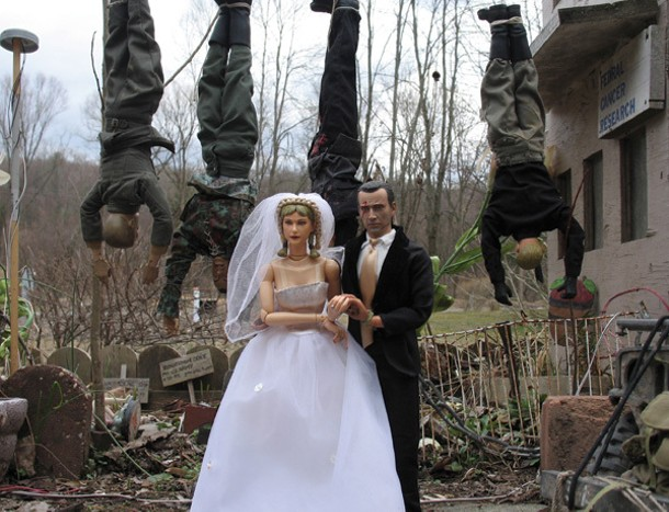 "A still from ""Marwencol"""
