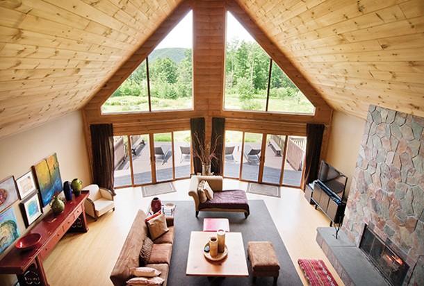 A view of the living room from the second floor - DEBORAH DEGRAFFENREID