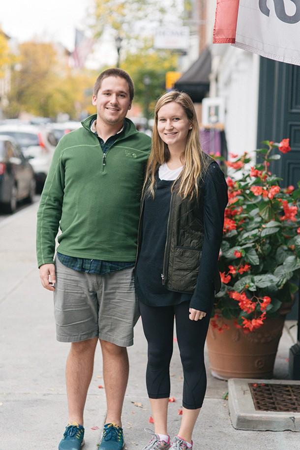 A walk along Warren Street. David Fowler and Emma Hart; - THOMAS SMITH