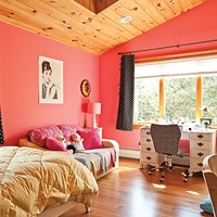 Living Large in Lagrangeville A wide-windowed child's bedroom