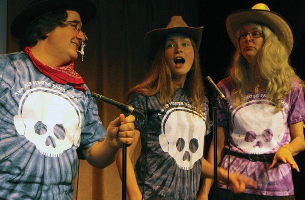 Alan Andrews, Holly Gobelez, and Kate Brannan, of Air Pirates Radio Theater. Air Pirates kicks off their season in Sugar Loaf on March 20.