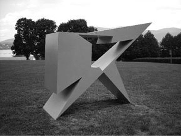 Alejandro Dron, Aleph, welded and painted steel.