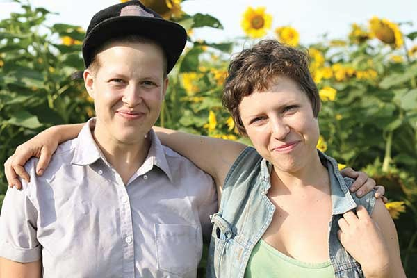Amanda Beckley and Faith Gilbert of Letterbox Farm Collective in Hudson.