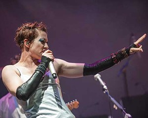 Amanda Palmer in performance at the Fisher Center on September 5, 2012.