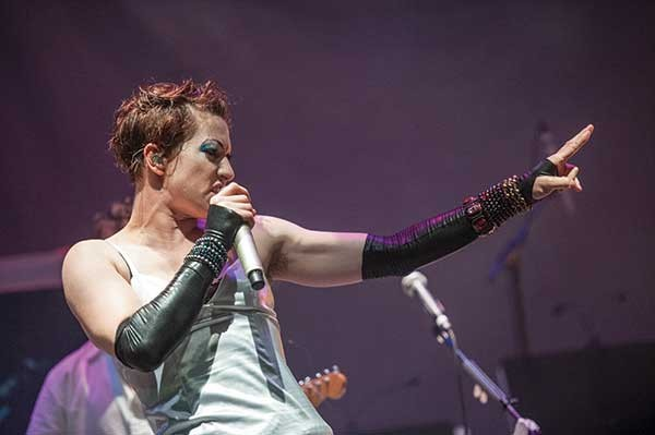 Amanda Palmer in performance at the Fisher Center on September 5, 2012. - STEPHANIE BERGER