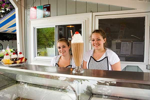 Amy Dutcher and Gillian Barto of Four Brothers Drive-In on Route 22 in Amenia.
