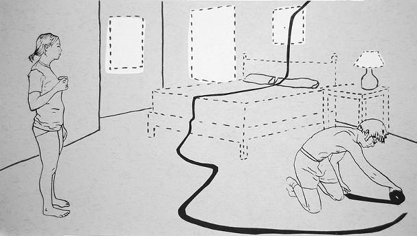 An Interpretation of Cartography, Caitlin Wheeler, silk screen print on found paper, 2007.
