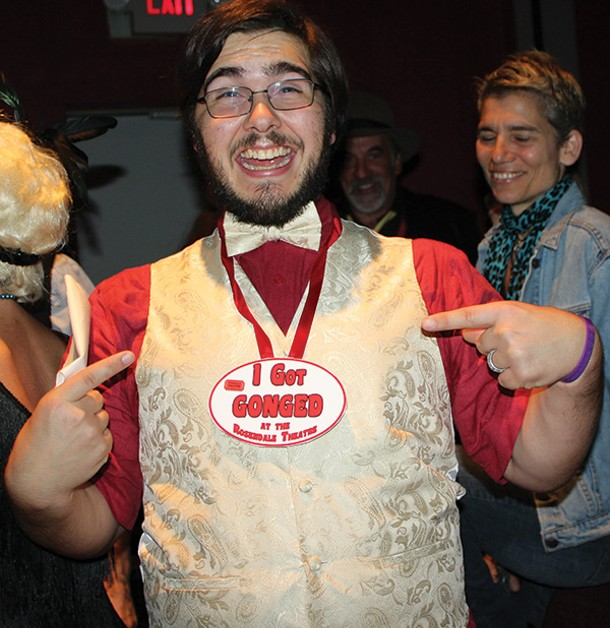 An unlucky Gong Show contestant on October 12 at the Rosendale Theater. - ANNE RUBY