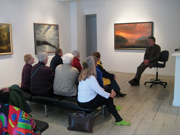 April 23 at Carrie Haddad Gallery: - Artist Thomas Locker speaks to a group from Bard's Continuing Studies program.