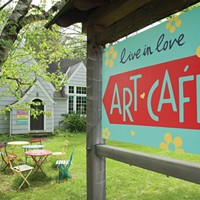 Woodstock, Mount Tremper, and Phoenicia Art Cafe on Mill Hill Road in Woodstock. Roy Gumpel