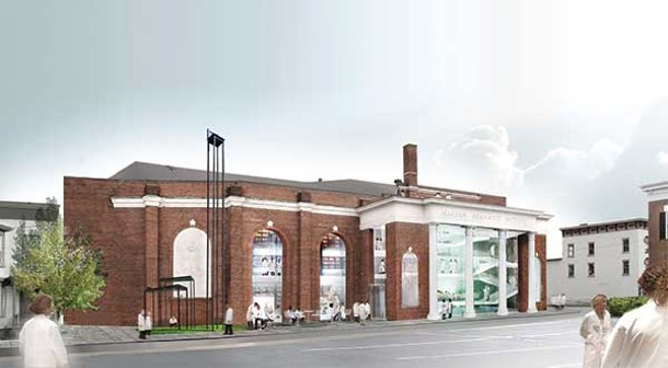 Artist renderings of the Marina Abramovic Institute, to be built in Hudson.