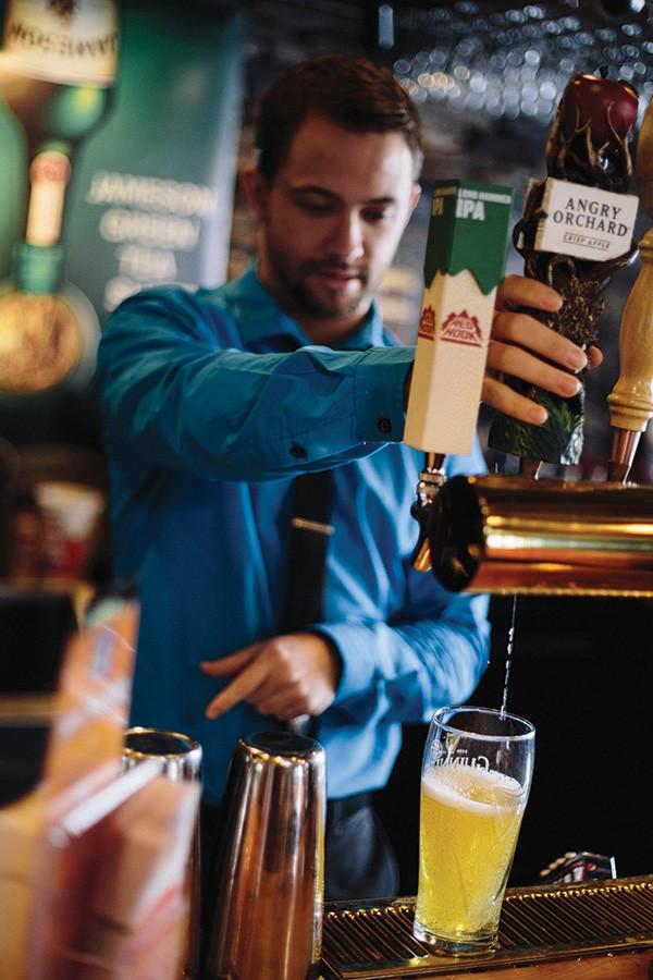 Bartender Adrian Capulli at Shea O'Brien's. - THOMAS SMITH